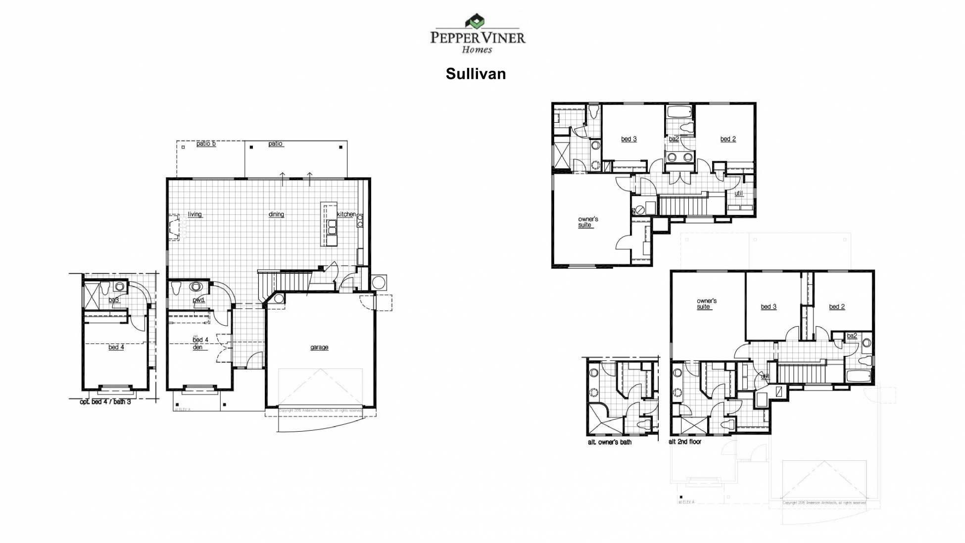 Elementary place floor plans pepper viner homes for Sullivan floor plan