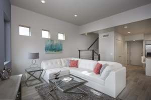 New Homes central Tucson Park Modern #3 Living room + Staircase