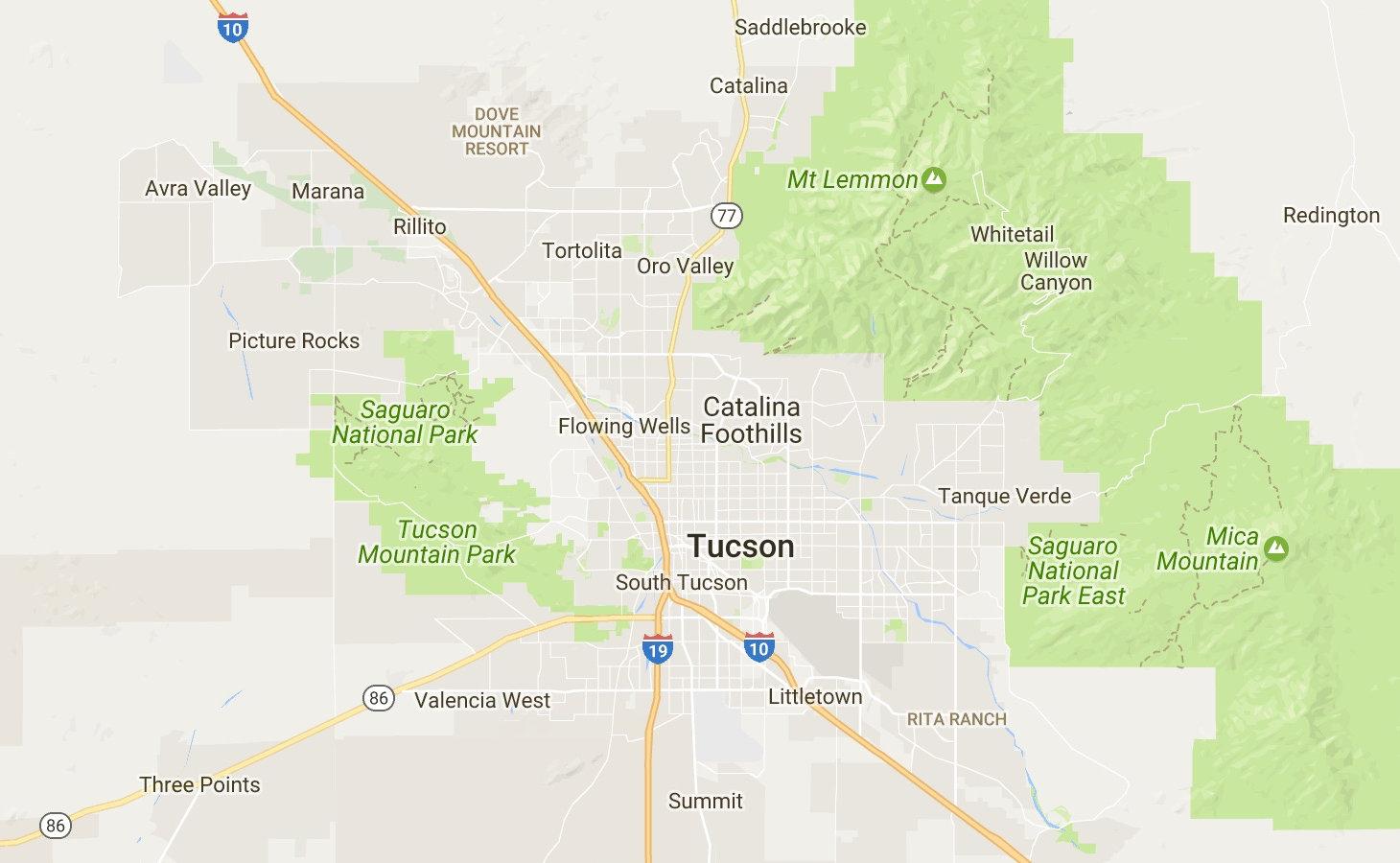 Map of Tucson, AZ - Pepper Viner Homes